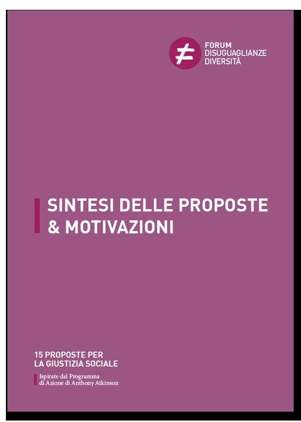 Sintesi e motivazioni - 15 proposte per la giustizia sociale - ForumDD