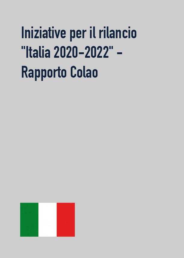 """Iniziative per il rilancio """"Italia 2020-2022"""" - Rapporto Colao"""
