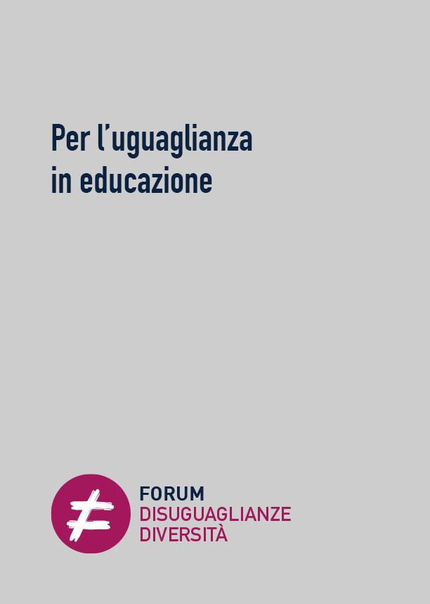 Per l'uguaglianza in educazione