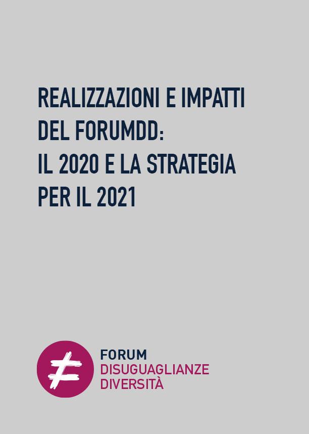 REALIZZAZIONI E IMPATTI DEL FORUMDD: IL 2020 E LA STRATEGIA PER IL 2021