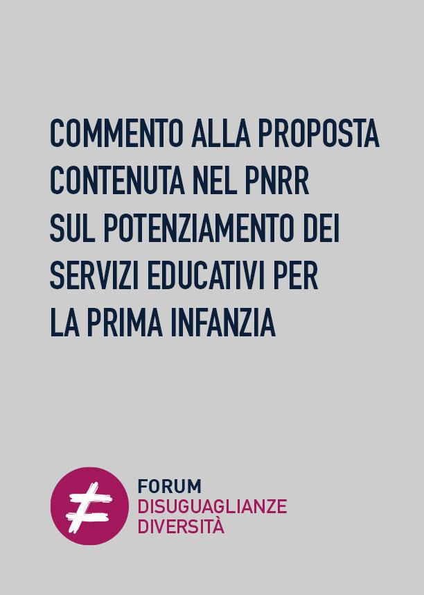 Commento alla proposta contenuta nel PNRR sul potenziamento dei servizi educativi per la prima infanzia