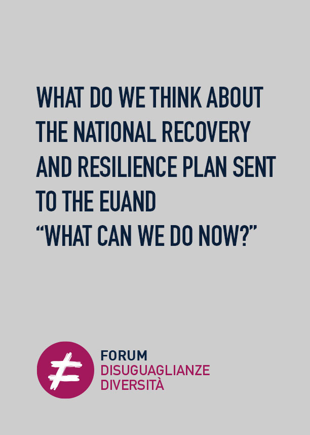 """WHAT DO WE THINK ABOUT THE NATIONAL RECOVERY AND RESILIENCE PLAN SENT TO THE EUAND """"WHAT CAN WE DO NOW?"""""""