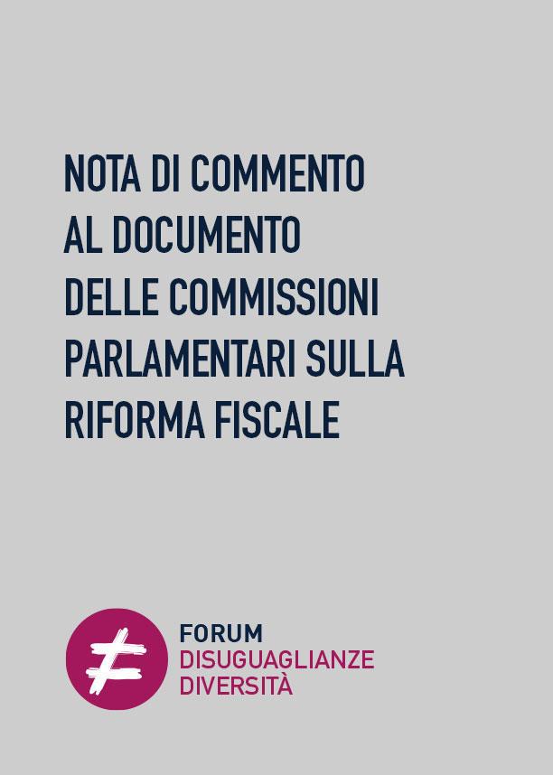 Nota di commento al Documento delle Commissioni parlamentari sulla Riforma Fiscale